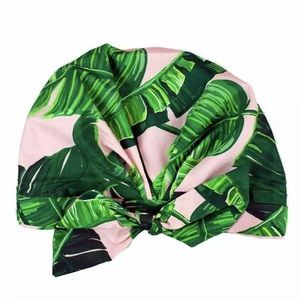 Kit•sch Palm Leaf Luxe Shower Cap - NWT